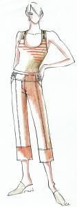 1997-től ANISSA márkakollekció tervezés. Tavaszi-nyári modellek. (Kanizsa Ruhaipari Szövetkezet)