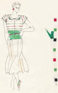 """1988, az IDEA Iparművészeti Vállalat meghívásos pályázata, """"Cuba Moda"""", I. díj"""