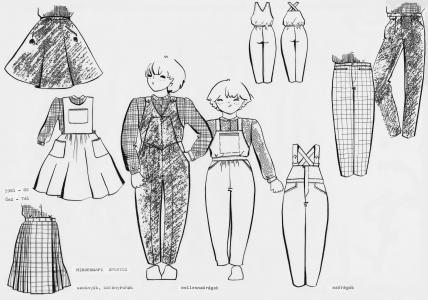 1979-1984 Magyar Divat Intézet, gyerekruha kollekciók tervezése